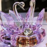 New Design - Beautiful Purple Crystal Swan Music Box For Wedding Souvenirs Gift 2015