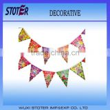 Newest Design Hanging Decorative PVC Triangle Bunting Flags For Christmas