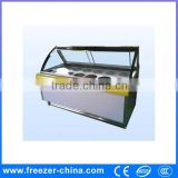 Most popular and hot sale ice cream showcase freezer for soft ice cream with imported compressor