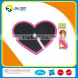 Heart shaped black board with chalks and eraser for kids, Novelty black board
