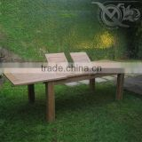 Teak Outdoor Double Extension Table VXT 012