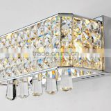 simple contemporary creative rectangle crystal wall lamp lighting bedroom, corridor light