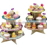 NEW Birthday party bunting cake platter birthday party cake stand cake platter with pretty reversible tier