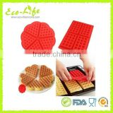 5 Hearts Waffle Cookie Silicone Mold Breakfast Cake Biscuit Novelty Pan Icing Fondant Mould Kitchen Bakeware