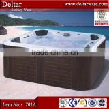 classical pool bathtub with jets air bubble pump , commercial enameled bathtubs, 4 person hot tub