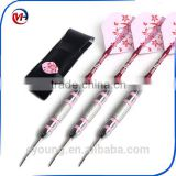 Steel Tip Darts With Pink Dart Flight Dart Shaft Darts set for lady girls