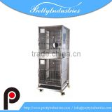 2 layer stainless steel laboratory monkey cages