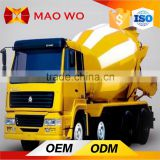 2016 Howo hydraulic pump 10m3 concrete mixer truck dimensions for sale