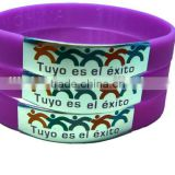 Vogue unisex silicone rubber bracelet id bangles and bracelets