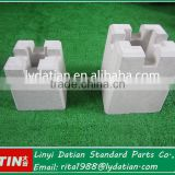 Outdoor concrete deck block for building