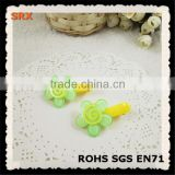 HOT selling pretty small flower eco-friendly plastic spring hair clips