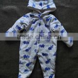 China Made Low Price Winter Boys Clothing Long Sleeve Allover Printed Baby Romper