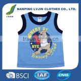 Newest Arrival sleeveless blue Baby Toddler Clothes Printed Cartoon Dog Baby Clothing