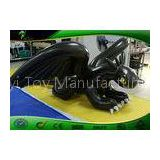 Large Inflatable Animals Black Toothless Dragon With White Claws 4m Long