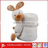 CE / EN71 approval soft plush baby animal pillow blanket cartoon plush custom animal blanket