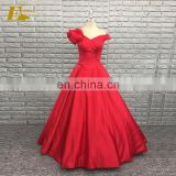 Sexy Off Shoulder Design Ball Gown Red Satin Quinceanera Dresses 2017