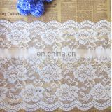 Supplier nylon/polyester white guipure lace fabric and white cord lace fabric for beautiful dress