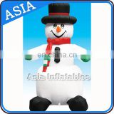 Custom Advertising PVC Christmas Competitive Price Snowman Inflatable Helium Balloon For Promotion