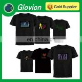 HOT SALE sound activated t-shirt electronic music t-shirt el music active t-shirt