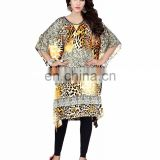 Women's Multi-Colour 3D Animal Printed Short Kaftan / Casual Wear Dress 2016 / Latest Indian Ethnic Wear 2016 (kaftans 2017)