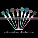 beautiful shape and color LED flashing swizzle stick for bar