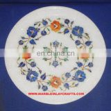 Round Marble Inlay Plate Whole Seller