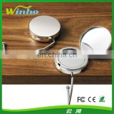 Handbag Hook Round with Mirror Silver Plated