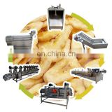 Snack banana chips machine banana peeling machine banana chips production machine