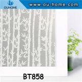 BT858 Frosted removable window glass film