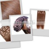 2013 New arrival Hot selling !!! Virgin Brazillian hair clip-in deep wave with natural color