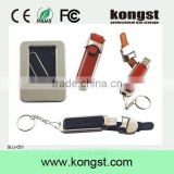 Factory Wholesale Real Capacity Leather USB Drives, USB 2.0 or USB3.0 Leather USB Sticks