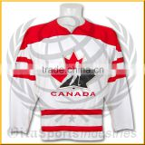fully sublimated goalie cut ice hockey jersey