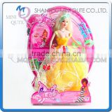 Mini Qute 36 cm kawaii beautiful American Latex kid fashion Plastic doll model educational toy with accessories NO.YS2012-1B
