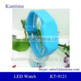 USB drive watch. colorful LED lights, can rechargeable battery, colorful silicone strap