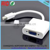 Write Mini Display Port Mini DP To VGA Adapter Cable for Apple MacBook Air Pro iMac Mac