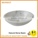 White Natural Marble Cheap Wash Basin