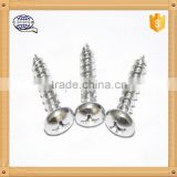 Zinc coated flat countersunk head self tapping screw for construction