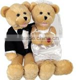 Bride & Groom Duet Sing Toy/Stuffed Musical Toy Wearing Wedding Dress/Soft Coulple Bears of Wedding