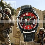 MR010 military royale analog digital multi-function sport leather wrist watch