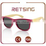 2016 OEM Newest 100% Nature Wood Glasses Wholesale Bamboo Eyewear Fashion Wood Framed sunglasses