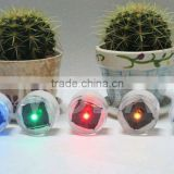 Solar underground light +100% solar power + 1 bright LED +5 Colors for option + Twinkle or Constant
