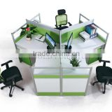 New Fashion Unique Style 3 Person Melamine Office Workstation/Office Furniture(SZ-WS902)