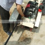 asphalt concrete road cutter machine with USA petrol engine,2 cylinders electric start,different shaft.water sprayer,dust proof