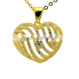 gold jewelry heart diamond pendant 18K gold pendant                                                                         Quality Choice                                                     Most Popular