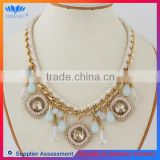 CHINA FACTORY PROFESSIONAL crystal braided rope necklace