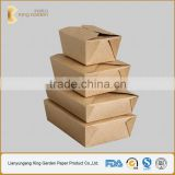 Food Grade Bio Kraft Round Bottom and Flat Paper Box