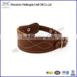 Nice pu leather dog leash comfortable puppy pets collar wholesale factory supply