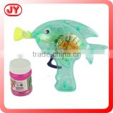 Summer toys plastic fish bubble gun with light