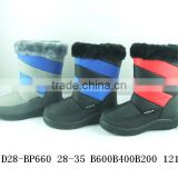 winter snow boots and shoes with man-made fur lining