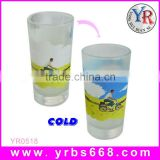 300ML Promotional China Supplier Cheap Custom Logo Printing Cold Color Changing Beer Glass Cup
